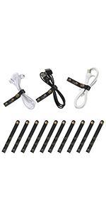 (10 Pcs) Leather  Cable Straps