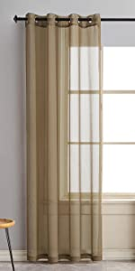 Brown Sheer Curtains