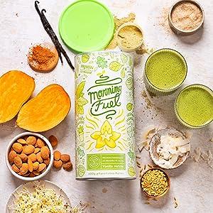 Proteina Vegana   Morning Fuel   Proteina Vegetal Mezcla para ...