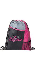 mesh back pack, breast cancer awareness