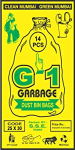 Large Sized Black Colored Garbage Bags