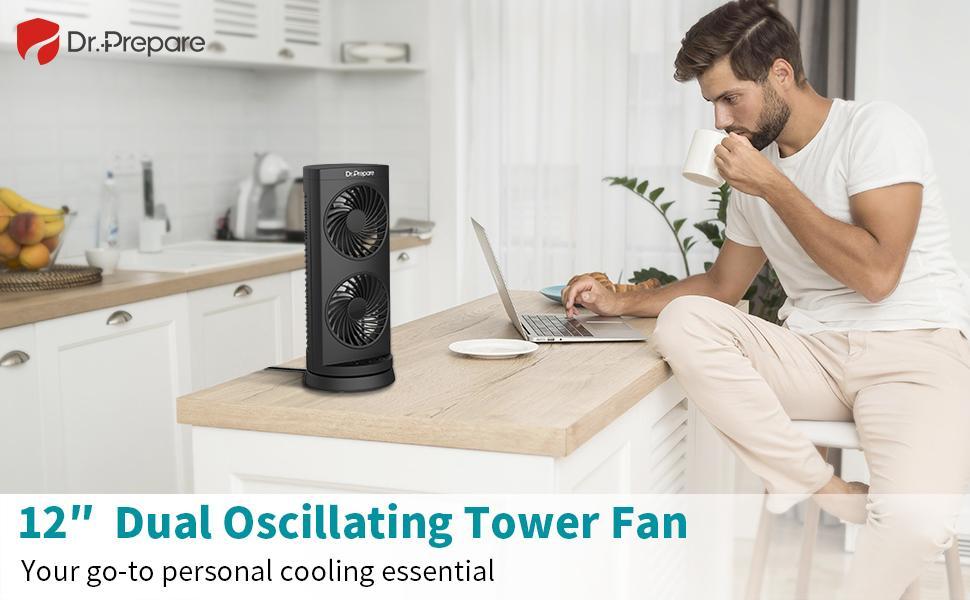 Tower Desk Fan