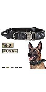 Tactical Dog Collar Gery Camo
