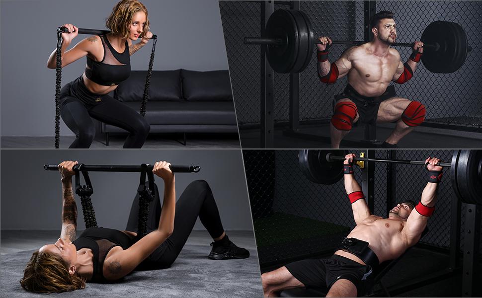 Verschillende fitnessoefeningen