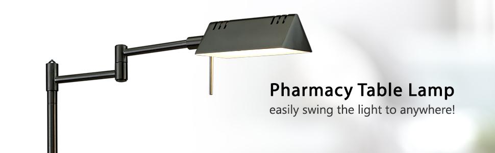 LED Pharmacy desk lamp minimalist side table lamp vintage stand lamp metal end table lighting