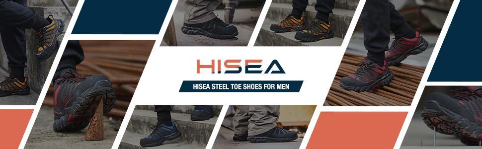 Hisea Steel Toe Shoes for men