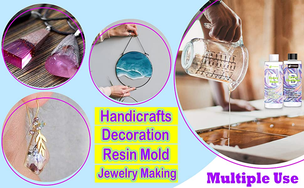1:1 epoxy resin hardener for crafts non toxic crystal clear resin