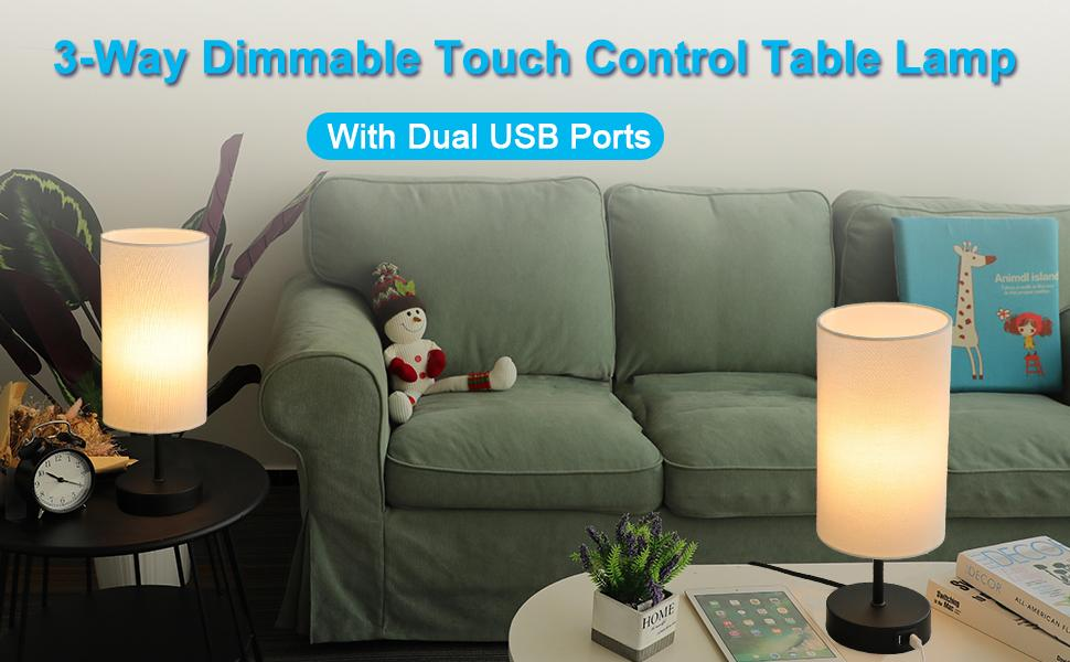 touch lamp for bedrooms touch control table lamp 3 way lamp touch table lamp touch lamp with usb