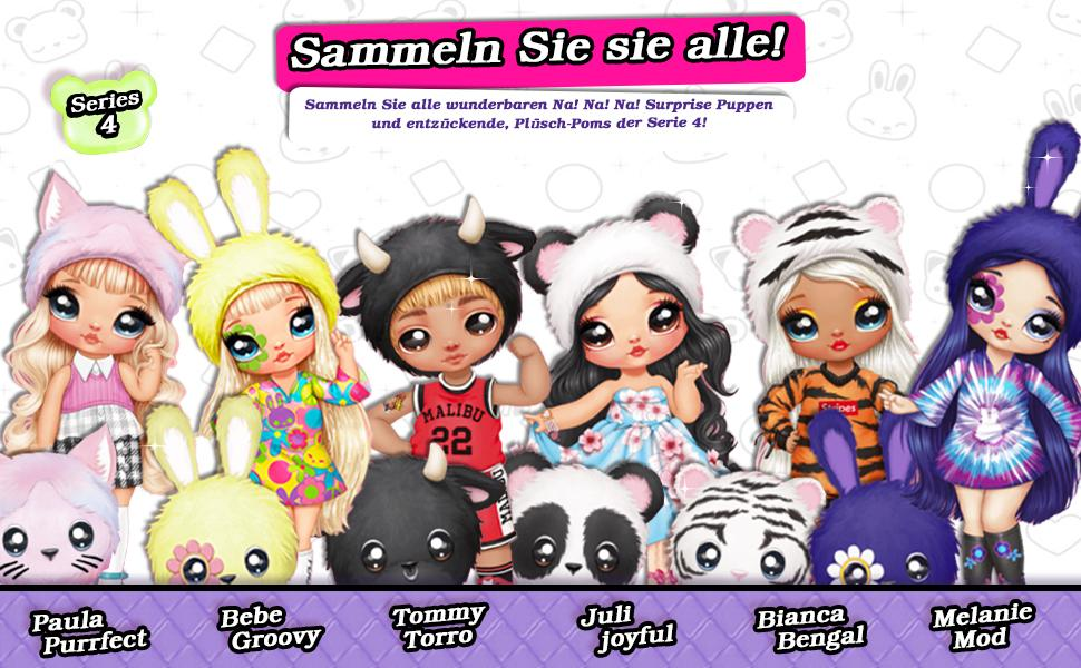 Na! Na! Na! Surprise Pom Doll Series 4 2 en 1