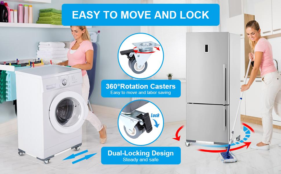 Easy to move and lock, labor saving