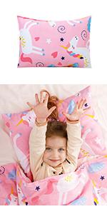 Pillow and Pillowcase for Kids