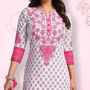 Miraan Cotton Printed Readymade Salwar Suit for Women (RV3516, pink) SPN-FOR1