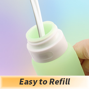 wide mouth, easy to refill