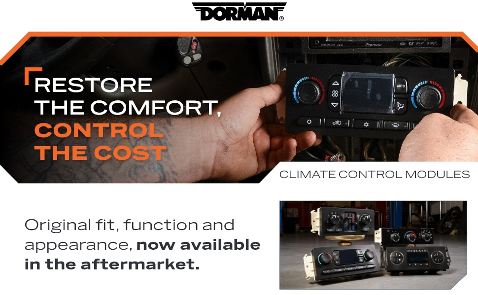 Climate control modules, now available in the aftermarket