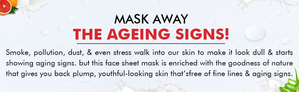 B091N63Y1B- Senseller Anti Aging Face Sheet Mask Enriched with Grape Fruit Extract- SPN-FOR1
