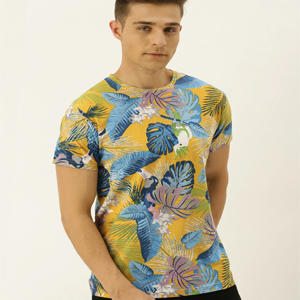 Floral printed round neck
