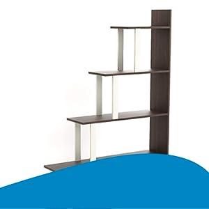 B08YX85FCK Ladder Style Bookshelf- SPN-FOR1