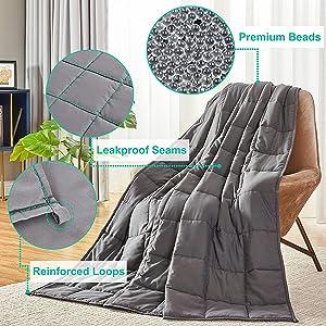 Seward Park, weighted blanket