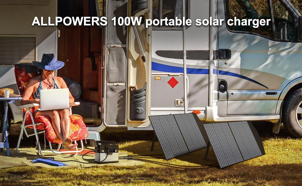 foldable solar panel 100W