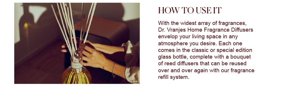 How to use the Dr. Vranjes' Rosso Nobile Diffuser
