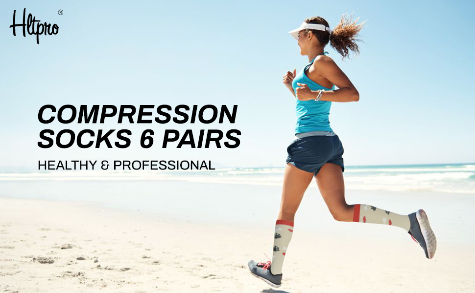 colorful compression socks