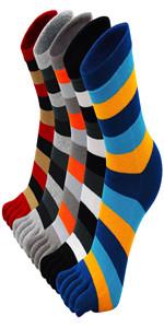 toe separated toe socks for men five finger socks big toe socks crew toe socks