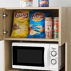 College essentials dorm wooden shelf kitchen organization