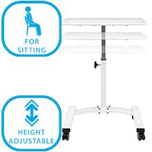 laptop desk for bed and sofa podium with wheels adjustable computer station mobile laptop desk