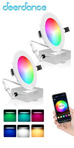 2 pack smart recessed light