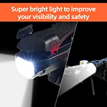 Super bright light to improve your visibility and safety