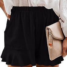 SWEET POISON black high waisted shorts