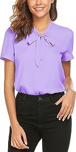 womens chiffon blouse short sleeve