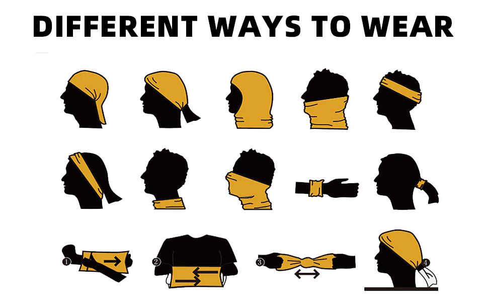 different ways to wear