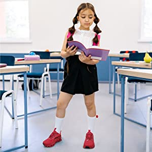 GIRL SCHOOL RED FASHION SNEAKERS