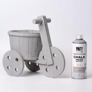 Pintyplus Chalk Finish Spray Paint Ash Grey