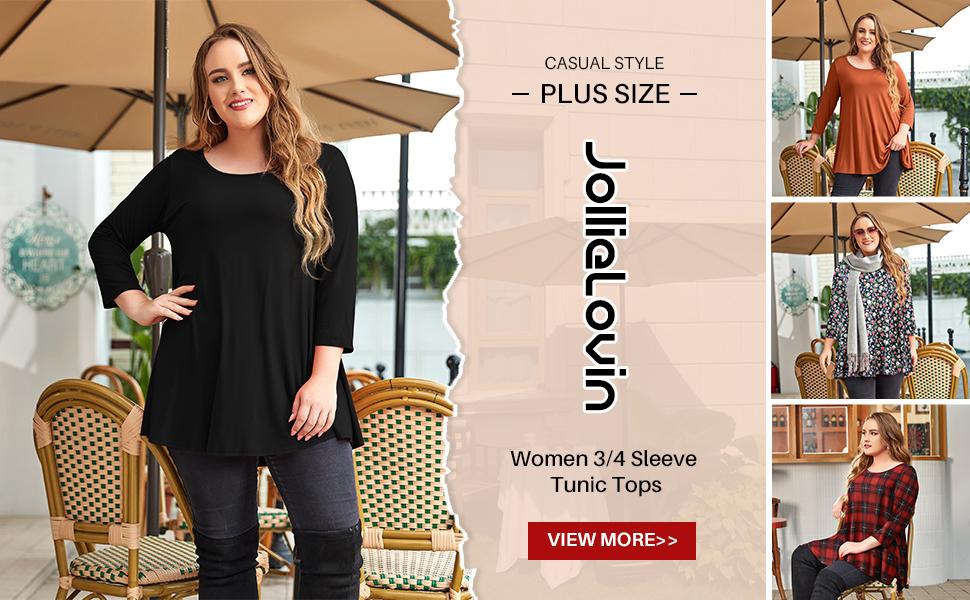 3/4 sleeve woman tunics
