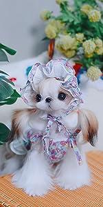 KILLUA Dog Dresses Pet Clothes Floral Dress Girl