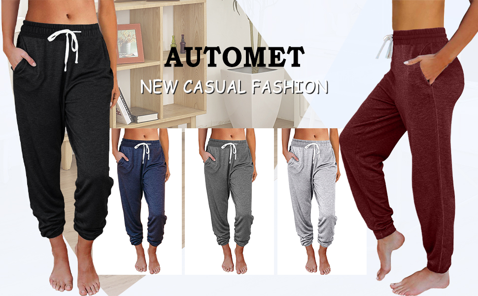 automet women fashion sweatpants