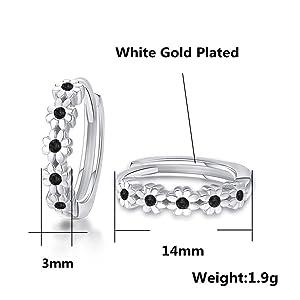 Cubic Zirconia Hoop Earrings