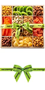 Wooden tray fruits mix