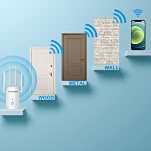 WiFi signal booster repeater will bring you a more stable network and long distance usage