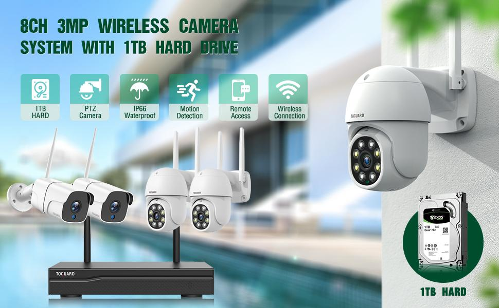 3MP Outdoor Security Camera system
