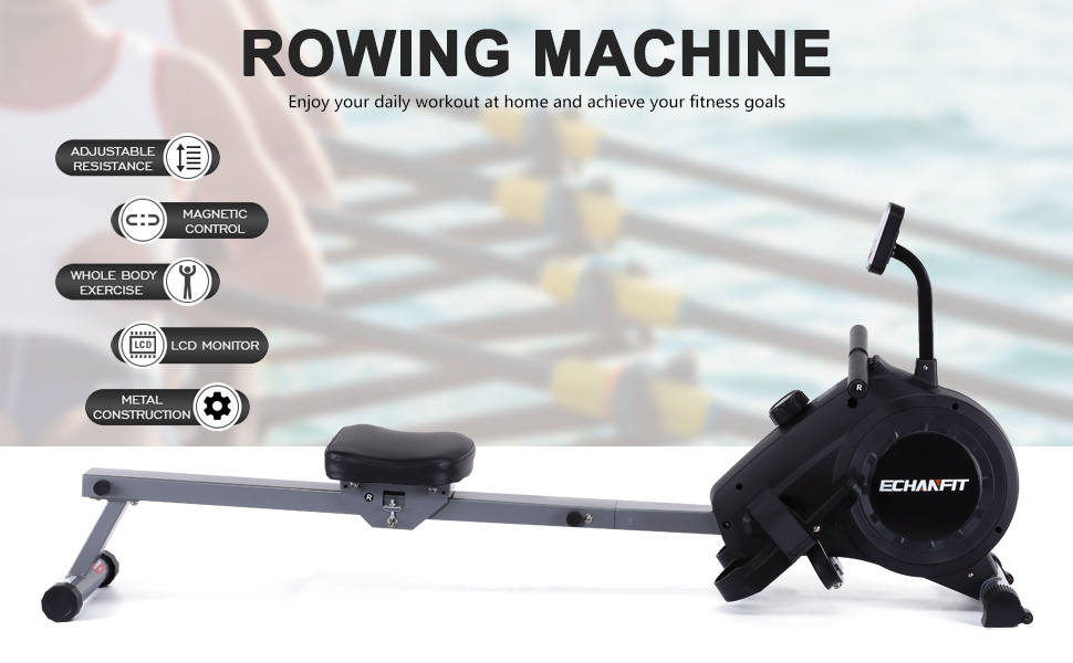 ROWING MACHINE  Giving you a smooth quiet power rowing experience