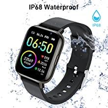 This smartwatch is made with IP68 waterproof standards