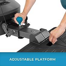 Closeup of Teeter FitForm adjustable platform