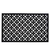 Black Rubber Lattice Doormat