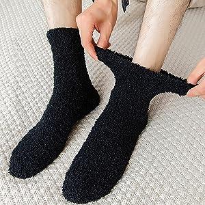 Men Soft Fuzzy Floor Socks