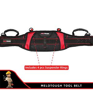 5 inch work belt with suspenders rings