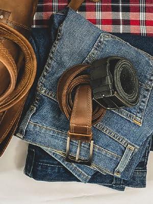 Hide amp; Drink Men's Two Row Stitch Leather Belt Handmade :: Bourbon Brown