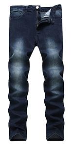 men designer ripped tapered leg jean pants dark young torn vintage regular fitted athletic jogger